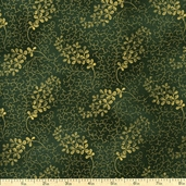Madeline Floral Cotton Fabric - Green
