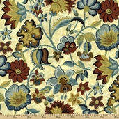 Madison Floral Cotton Fabric - Papyrus J7003-531 PAPYRUS