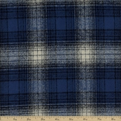Mammoth Flannel Cotton Fabric - Blue