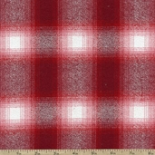 Mammoth Flannel Large Plaid Fabric - Red