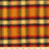 Mammoth Flannel Madras Plaid Cotton Fabric - Crimson