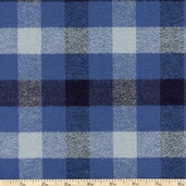 Mammoth Flannel Medium Plaid Fabric - Blue