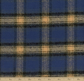 Mammoth Flannel Medium Plaid Fabric - Pacific