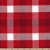 Mammoth Flannel Medium Plaid Fabric - Red