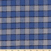 Mammoth Flannel Medium Thin Stripe Fabric - Blue
