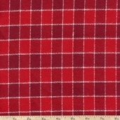 Mammoth Flannel Medium Thin Stripe Fabric - Red