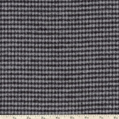 Mammoth Flannel Small Plaid Fabric - Grey