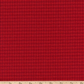 Mammoth Flannel Small Plaid Fabric - Red