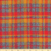 Mammoth Flannel Tartan Plaid Cotton Fabric - Crimson