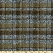 Mammoth Flannel Twin Stripe Fabric - Green