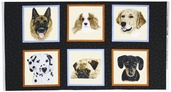 Man's Best Friend Cotton Fabric Panel