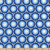 Mandi Circles Cotton Fabric - Blue