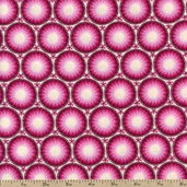 Mandi Circles Cotton Fabric - Pink