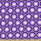 Mandi Circles Cotton Fabric - Violet