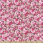 Mandi Floral Cotton Fabric - Pink