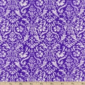 Mandi Vine Cotton Fabric - Violet