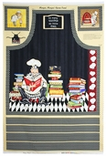 Mangia Mangia! Cotton Fabric - Apron Panel Q.1031-84348-293W