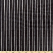 Mangia Mangia! Pinstripe Cotton Fabric - Black