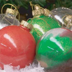 Marble Painted Holiday Ornaments w/ Video