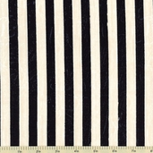 Marche De Fleurs Stripe Cotton Fabric - Ivory 86304-199W