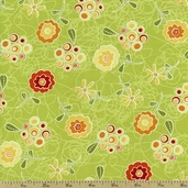 Marmalade Cottage Floral Cotton Fabric - Green 1015-76335-757W