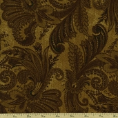 Marrakesh 108 Wide Backing Cotton Fabric - Brown 1009-4726-222W