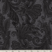 Marrakesh 108 Wide Backing Cotton Fabric - Charcoal 1009-4726-999W