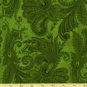Marrakesh 108 Wide Backing Cotton Fabric - Dark Green 1009-4726-777W