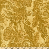 Marrakesh 108 Wide Backing Cotton Fabric - Gold 1009-4726-122W
