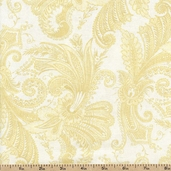 Marrakesh 108 Wide Backing Cotton Fabric - Light Yellow