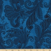 Marrakesh 108 Wide Backing Cotton Fabric - Turquoise 1009-4726-444W