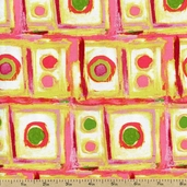 Martini Party Hor D'Ourves Cotton Fabric - Pink