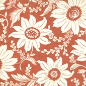 Martinique Floral Cotton Fabric- Coral