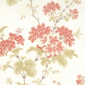 Martinique Hibiscus Cotton Fabric - Linen