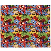 Marvel Immortals Packed Character Cotton Fabric - Multi-Color