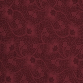 Mary's Blenders Floral Vine Cotton Fabric - Burgundy