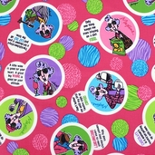 Maxine Cotton Fabric - Fuchsia