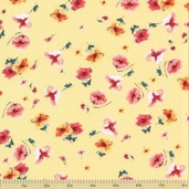 Meet Me at Sunset Cotton Fabric - Country Floral Yellow