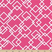 Meet Me at Sunset Cotton Fabric - Gridlock Pink