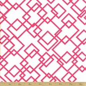 Meet me at Sunset Cotton Fabric - Gridlock White Pink