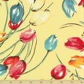 Meet Me at Sunset Cotton Fabric - Tulips Yellow