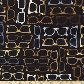 Menswear Eyeglasses Cotton Fabric - Black