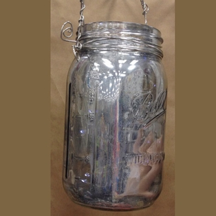 Mercury Glass Canning Jar