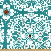 Mermaid Friends Cotton Fabric - Turquoise CX5910-MERM-D