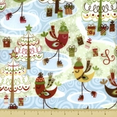 Merry Chris-Moose Cotton Flannel Fabric - Scenic - Hot Cocoa