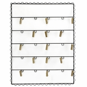Message Center Wall Hanging with Clips - Black