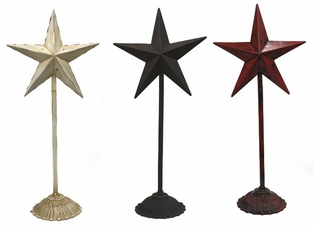 http://ep.yimg.com/ay/yhst-132146841436290/metal-star-stand-23in-set-of-3-antique-white-rustic-brown-red-4.jpg