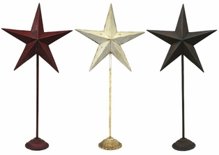 http://ep.yimg.com/ay/yhst-132146841436290/metal-star-stands-33in-set-of-3-red-antique-white-and-rustic-brown-4.jpg