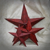 Metal Star Wall Decor Assorted Sizes Set of 3 - Red - Clearance
