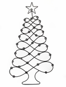 Metal Tree Wall Hanging - 35 inch
